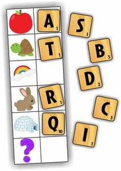 Kindergarten Literacy Centers - Back to School. 92 pages. A page from the unit: beginning sounds. Great to use with magnetic letters or Scrabble letter tiles. Could even use with a dry-erase marker.