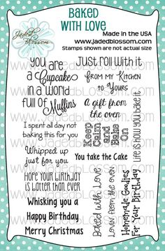 Baked with Love www.jadedblossomstamps.com
