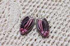 Shibori earrings Külli käsitööehted