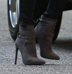 d24f7d37180bb Victoria Beckham Is Ready for Fall in Saint Laurent Ankle Boots Saint  Laurent Boots