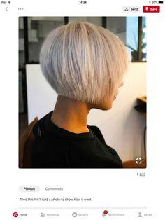 Medium Hair Cuts, Short Hair Cuts, Short Hair Styles, Hair Color And Cut, Cut My Hair, Short Platinum Blonde Hair, Mid Length Hair, Short Bob Haircuts, Short Hair With Layers