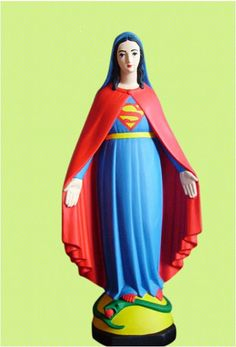 UTS Visual Communication: Pop Art. French artist/sculptor Soasig Chamaillard repurposed damaged or found miniature statues of the Virgin Mary. The project is called 'Détournement Statue Sainte Vierge', turning Mary into pop culture icons of today.