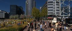 Het Orlyplein in Amsterdam verandert van grijs naar groen. Het nieuwe groen maakt het plein niet alleen mooier, maar is ook nog eens goedkoper dan opnieuw betegelen.