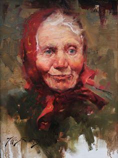Jeffrey Watts   Babushka  Oil on canvas  -2011  30.48 x 40.64 cm