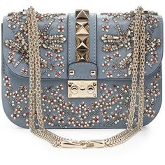 Valentino Crystal Small Lock Shoulder Bag