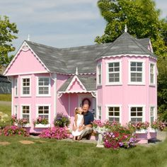 Little Cottage Sara Victorian 8 x 16 Mansion Wood Playhouse - Outdoor Playhouses at Hayneedle