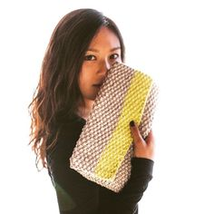 Have you #knit our #clutch in every colour yet? #malikoo #instaknit #knittingpatterns #diy
