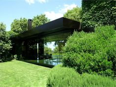 a space amid green / extension to a Villa in Tuscany designed by Lazzarini Pickering Architetti Green Architecture, Residential Architecture, Contemporary Architecture, Architecture Design, Contemporary Garden, Modern Exterior, Interior And Exterior, Black Exterior, Landscape Design