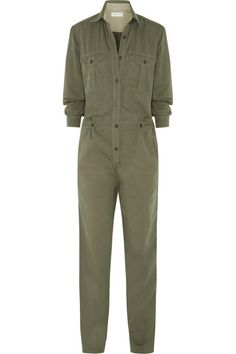 Army-green cotton and linen-blend Button fastenings along front 87% cotton, 13% linen; lining: 100% cotton Dry clean Designer color: Khaki