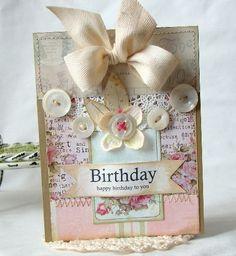 Happy Birthday Handmade Card by iralamijashop on Etsy
