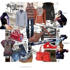 """Pepe Jeans..."" by camille-vickery on Polyvore"