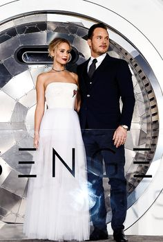 Chris Pratt and Jennifer Lawrence attend the premiere of 'Passengers' on December 14, 2016 in Los Angeles, California.