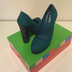 "Charles by Charles David Pursuit pumps These brand new never been worn pumps are gorgeous! The teal suede is really beautiful against the dark stacked heel. The heel is 5"" with a hidden 1"" platform. Comes with original box. Too pretty to pass up! Charles David Shoes Platforms"