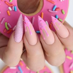 Sexuality Acrylic Stiletto Nails In 2019 Summer - Nail Art Connect What is the best choice of summer manicures? Of course, stiletto nails are the first. Pink Gel, Pink Nails, Gel Nails, Nail Polish, Matte Pink, Pastel Goth Nails, Nail Nail, Pink Nail Art, Nail Glue