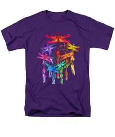 Dragonfly Dreams T-Shirt featuring the art of Carol Cavalaris. Available in different styles, colors, and sizes.