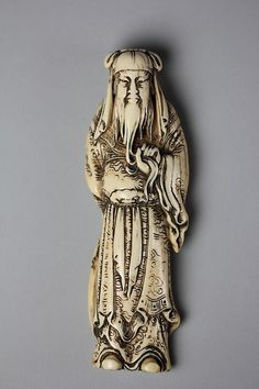 Chinese General Guan Yu (Kan'u) Period: Edo period (1615–1868) Date: 18th century Culture: Japan Medium: Ivory Classification: Netsuke