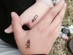 One of my favorite couples got this beautiful tattoo!! King & Queen ❤ Lovely, isn't it? #tattoo #couple
