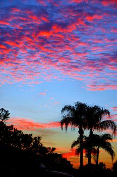 Fiery Sunset - Cocoa Beach, Florida