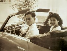 **King Bhumibol Adulyadej & Queen Sirikit Of Thailand**