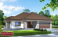 Projekt domu 4 Pory Roku II NF40, wizualizacja 2 Modern Fence, Facade House, Design Case, Cladding, Exterior Design, Future House, Luxury Homes, House Plans, House Design