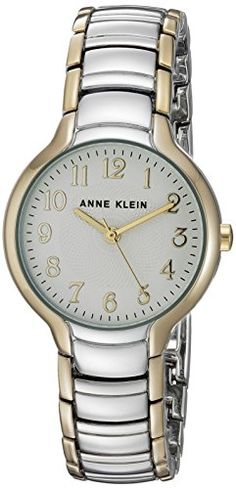 Anne Klein Women's Quartz Metal and Alloy Dress Watch, Color:Two Tone (Model: AK/2793SVTT) >>> To view further for this item, visit the image link.