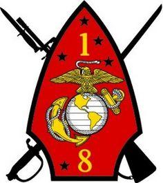 1st bn 8th marines patch | USMC 1st Battalion 8th Marine Regiment