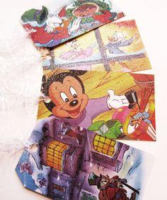 11 Disney Vintage Christmas Carol Glitter Tags by XmasMuse on Etsy, $12.00