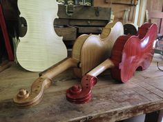 Violin makers bench.  Studio of http://www.leroydouglasviolins.com