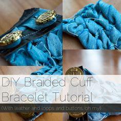 How to Make a Braided Cuff Bracelet #diy #bracelet