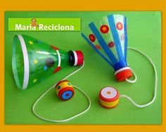 Mais um brinquedo com material reciclado para a… Kids Crafts, Diy And Crafts, Paper Crafts, Craft Activities, Toddler Activities, Games For Kids, Diy For Kids, Toys From Trash, Plastic Bottle Crafts