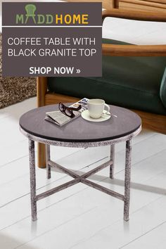Plan Your Special Coffee Date With Our Gorgeous BLACK GRANITE TOP COFFEE  TABLE At Home With