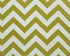 Zig Zag Village Green/Natural by Premier Prints - Drapery Fabric - Fabric By The Yard