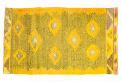 """Indian Dhurrie, Yellow, 5'8"""" x 3'3"""" on OneKingsLane.com"""