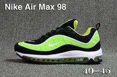 a1858e683c5 Mens Nike Air Max 98 QS KPU Black Green White 640744 066 Athletic Sneakers  Mens Nike
