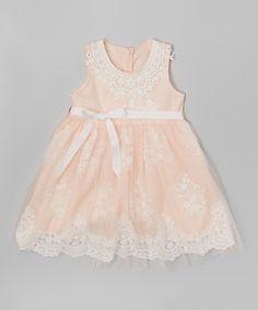 Pink Lace Dress - Toddler & Girls