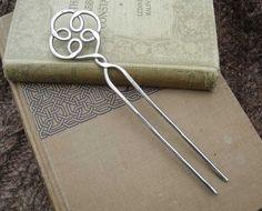 Celtic Knot Swirl Hair Fork Shawl Pin Scarf by nicholasandfelice
