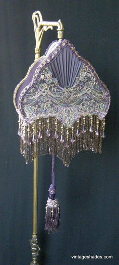 This site has a lot of beautiful victorian style lampshades - Victorian Lampshades Vintage Custom Lamp Shades