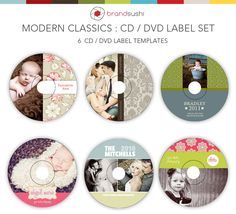 #Modern  Classics CD / DVD Label Templates  Like, repin, share!  Thanks