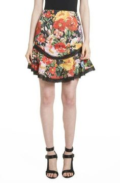 e5c042f9820a ALICE + OLIVIA Floral Skirt Blooming Garden  245 FREE S amp H (Compare  Elsewhere at