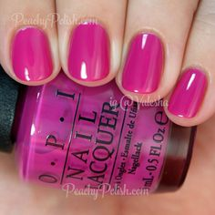 OPI The Berry Thought Of You | Summer 2015 Brights Collection | Peachy Polish #pink