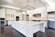 Kitchen with Beadboard Ceiling, Transitional, kitchen, Michael Davis Design Backsplash With Dark Cabinets, White Kitchen Cabinets, Painting Kitchen Cabinets, Kitchen Cabinet Design, Kitchen Paint, Home Decor Kitchen, Kitchen White, Modern Cabinets, White Kitchens
