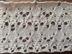 Equinox encoded as lace (free stitch pattern)