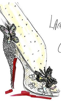 Design sketch by Christian Louboutin