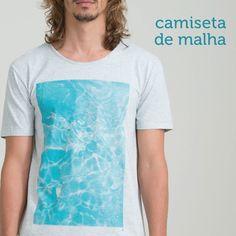 Com tecido leve e estampas modernas, as camisetas de malha são a cara do verão  =D ☀  #Redley85 #TShirt #RadicalChic #ModaMasculina #FicaDica