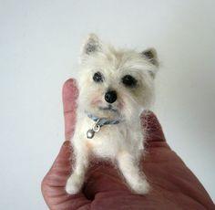 Nadel Filz Westhighland Terrier /Needle Filz Hund von ElinasArtShop