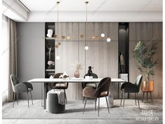 Dining Area, Dining Room, Wall Panel Design, Common Area, Wall Treatments, Contemporary Decor, Fendi, Living Room Decor, Compact