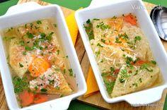 Polievka z Pávie (zuppa pavese) (fotorecept)