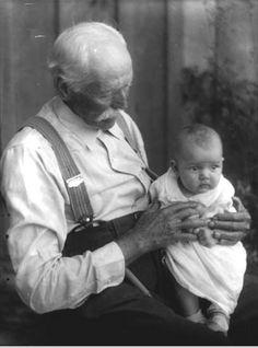 Appalachian Grandfather with child.