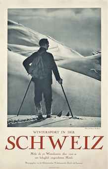 A very fine rucksack... WINTERSPORT IN DER SCHWEIZ Christies Ski Poster Sale 2015 Est. £800-1200