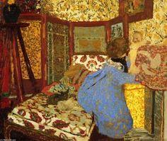 """bofransson: """" Woman in Blue with a Child Edouard Vuillard - circa 1899 """" Maurice Denis, Edouard Vuillard, Paul Gauguin, Felix Vallotton, Glasgow Museum, Critique D'art, Art Français, Pierre Bonnard, Post Impressionism"""